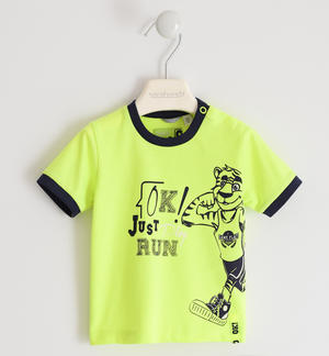 Cheerful t-shirt with tiger GREEN