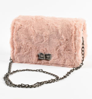 Bag made of faux fur PINK