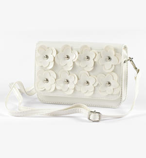 Shiny faux leather bag WHITE