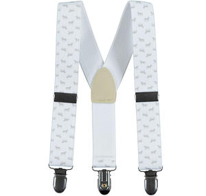 Elastic braces with horse pattern for baby boys GREY