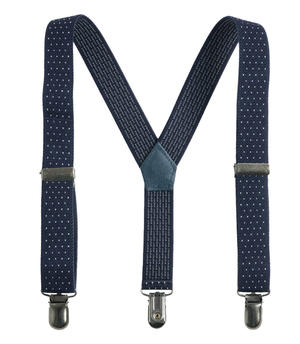 Elastic dotted braces BLUE