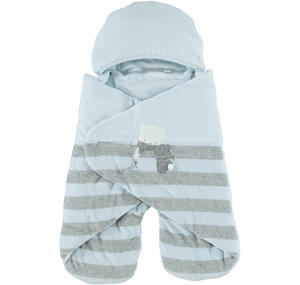Very warm unisex 'bat-winged' sleep sack  LIGHT BLUE