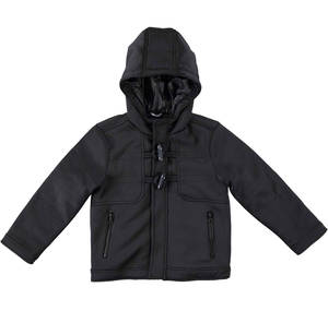 Neoprene hooded padded jacket BLACK