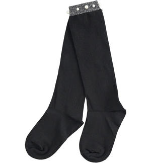 Socks with lurex and pearls