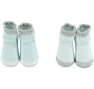 Baby socks in transparent two piece pack BLUE