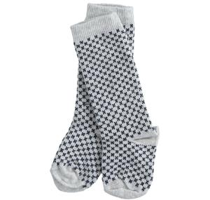 Newborn socks of micro patterned cotton blend GREY