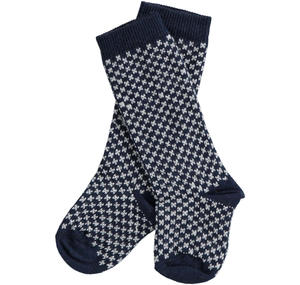 Newborn socks of micro patterned cotton blend BLUE