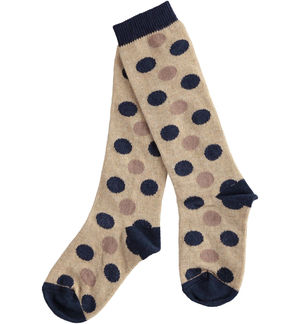 Newborn boy socks with polka dots