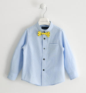 100% cotton shirt with bow tie and pochette