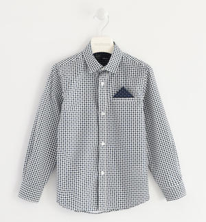 Shirt made of 100% cotton poplin with geometric pattern WHITE