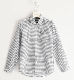100% micro patterned cotton shirt