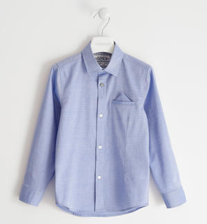 Long-sleeved shirt 100% cotton BLUE