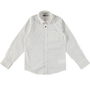 Long-sleeved shirt Shirt with a geometric print WHITE