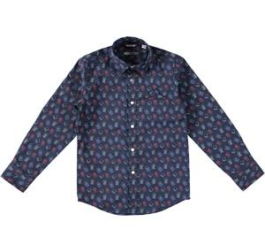 Long-sleeved shirt with a cute print BLUE