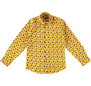 Long-sleeved shirt with a cute print YELLOW