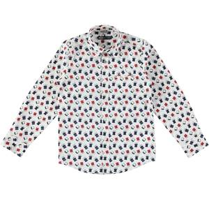 Long-sleeved shirt with a cute print CREAM