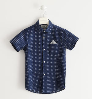 Classic shirt with short sleeves 100% cotton