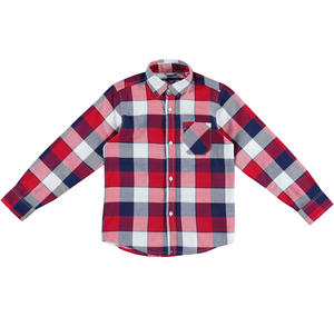 Classic 100% cotton checked shirt RED