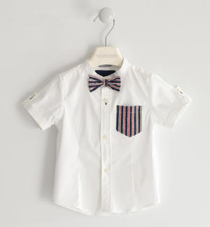 Classic shirt with bow tie WHITE