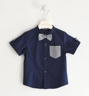 Classic shirt with bow tie BLUE
