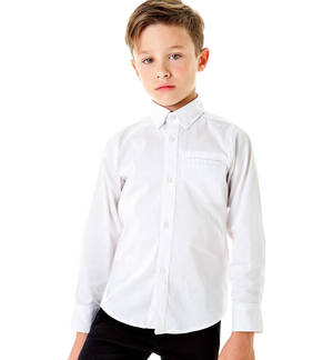 Shirt with breast pocket WHITE