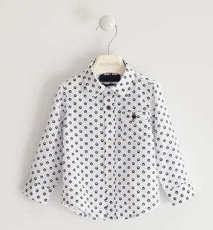 Classic shirt in all over polka dot pattern WHITE
