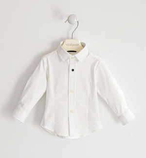 Classic shirt in stretch poplin. WHITE