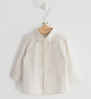 Classic micro patterned shirt for newborn boy