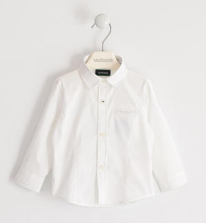 Stretch poplin shirt WHITE