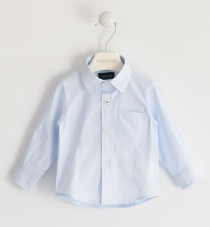 Stretch poplin shirt LIGHT BLUE