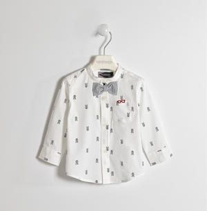 Shirt with little dogs pattern WHITE