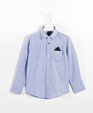 100% cotton shirt with micro diamonds   BLUE