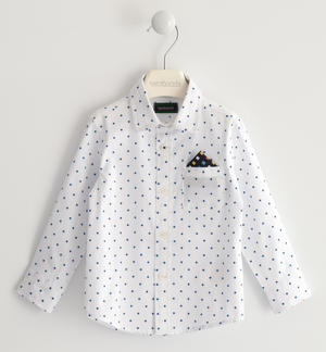 100% cotton shirt with allover geometric pattern