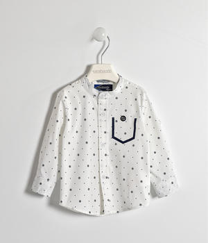 Shirt with daisy pattern WHITE