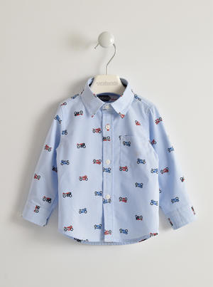 Shirt with motorcycle pattern BLUE