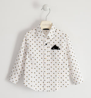 Poplin shirt with pochette WHITE