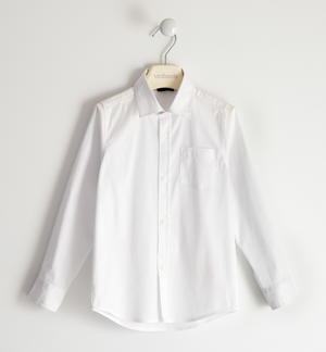 Stretch poplin shirt for boy