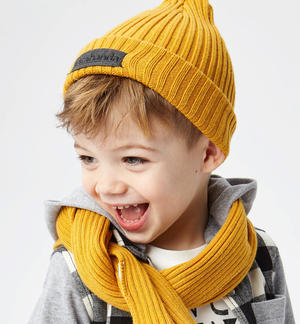 Cotton blend tricot beanie  YELLOW