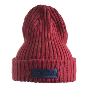 Cotton blend tricot beanie  RED