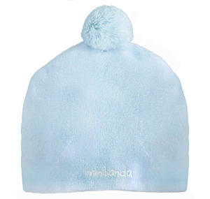Chenille newborn baby hat LIGHT BLUE