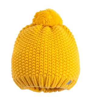 Pom-pom knitted hat YELLOW