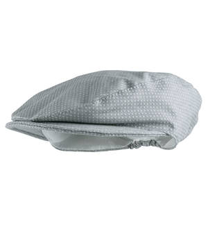 Fabric beret hat for babies GREY