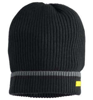 Ribbed beanie hat BLACK