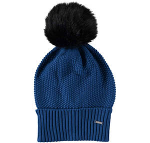 Knitted bobble hat BLUE