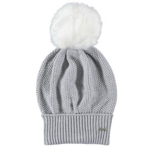 Knitted bobble hat GREY
