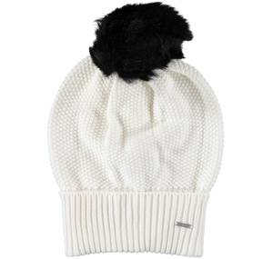 Knitted bobble hat CREAM