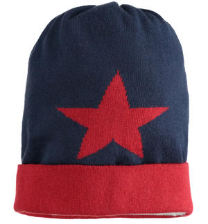 Beanie hat with stars BLUE