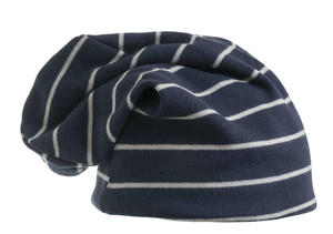 Cotton striped beanie