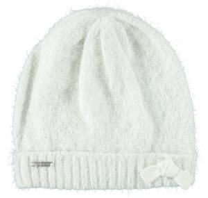 Lurex fur effect knitted beanie  CREAM