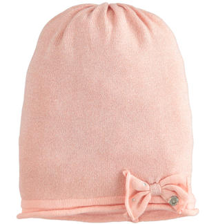 Cap model hat made in tricot lurex PINK